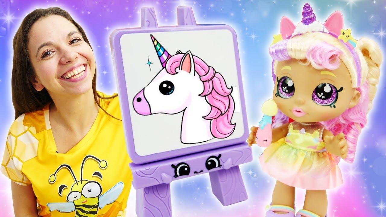 Как МАМА — Веселые куклы подружки KINDI KIDS! Куклы для девочек устроили чаепитие — Веселые видео игры