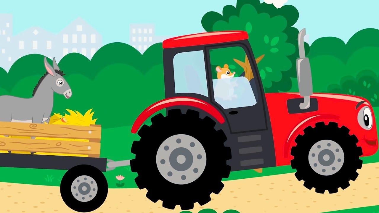 КОТЭ ТВ 🚗 Машинки 🚕 Веселая песня мультфильм для детей про животных