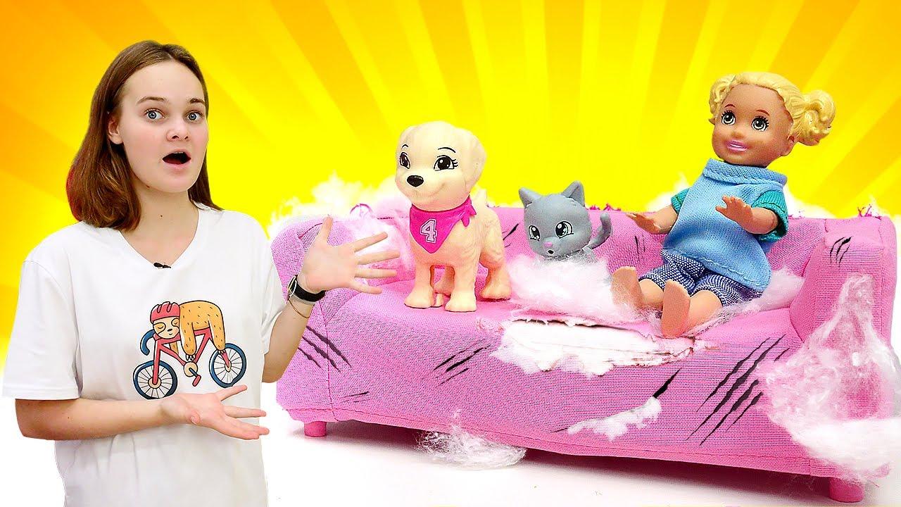 Лучшие Подружки — Сюрприз для куклы БАРБИ! Штеффи завела Питомцев! Новые игры для девочек. Смешные видео про кукол