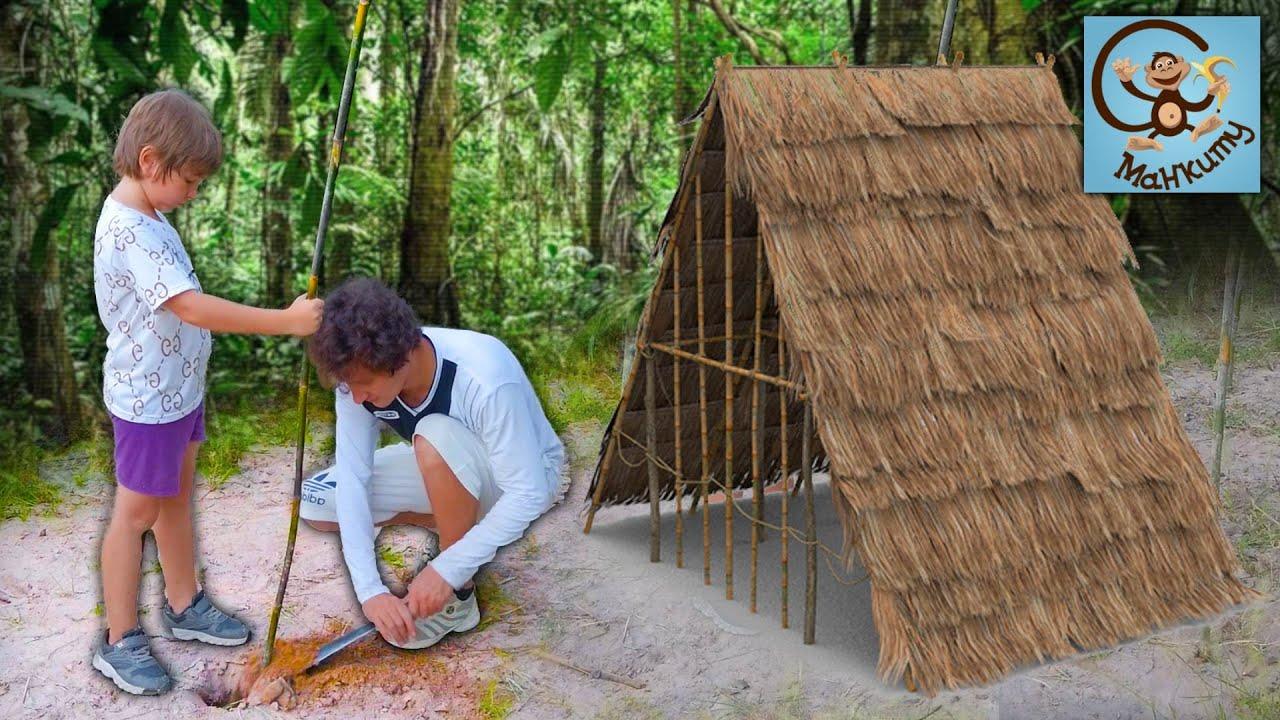 Манкиту — 24 часа в Лесу строим дом. Манкиту