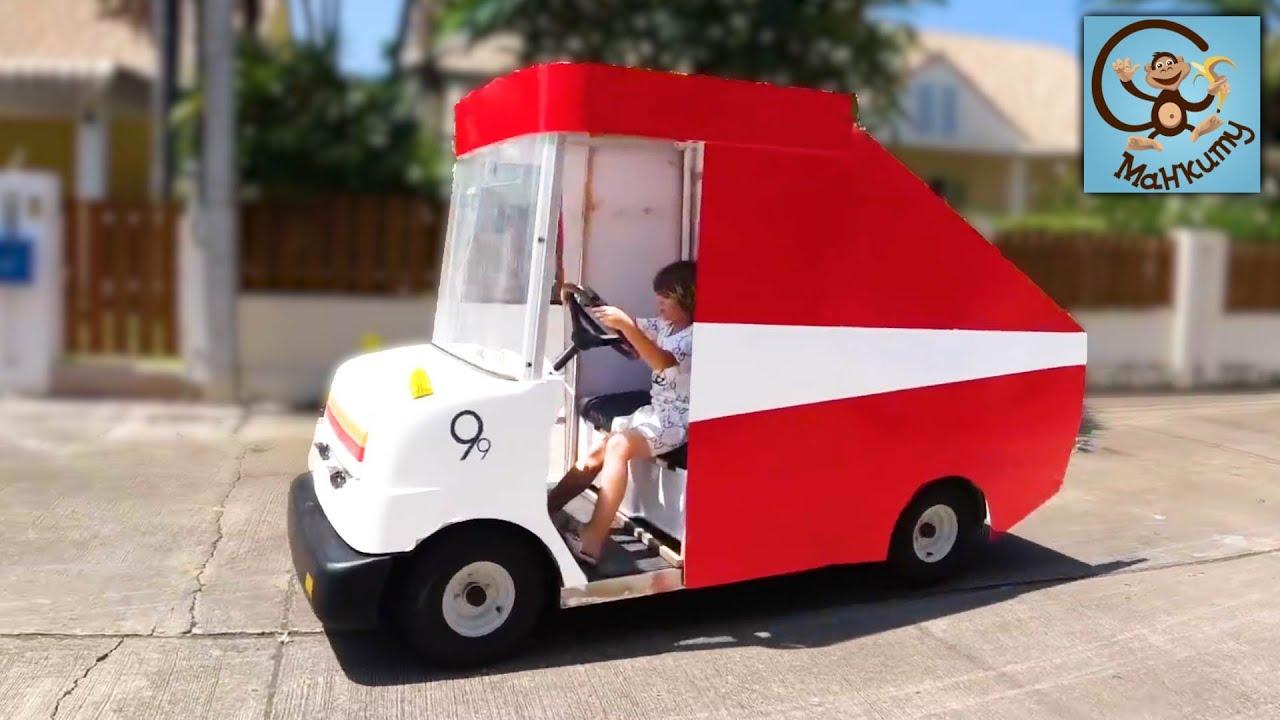 Манкиту — Дети и Машина. Манкиту делают Пожарную Машину