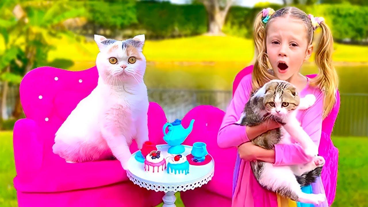 Настя и чаепитие с котиками. История для детей