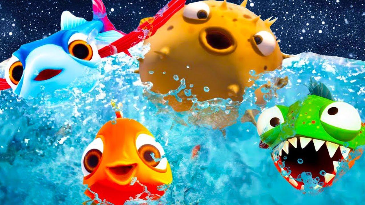 Пурумчата — Я РЫБА #5 Бонус I Am Fish. Кид в космосе. Зубастик Пиранья Глазастик, Фуга, Летучая и Золотая рыбка