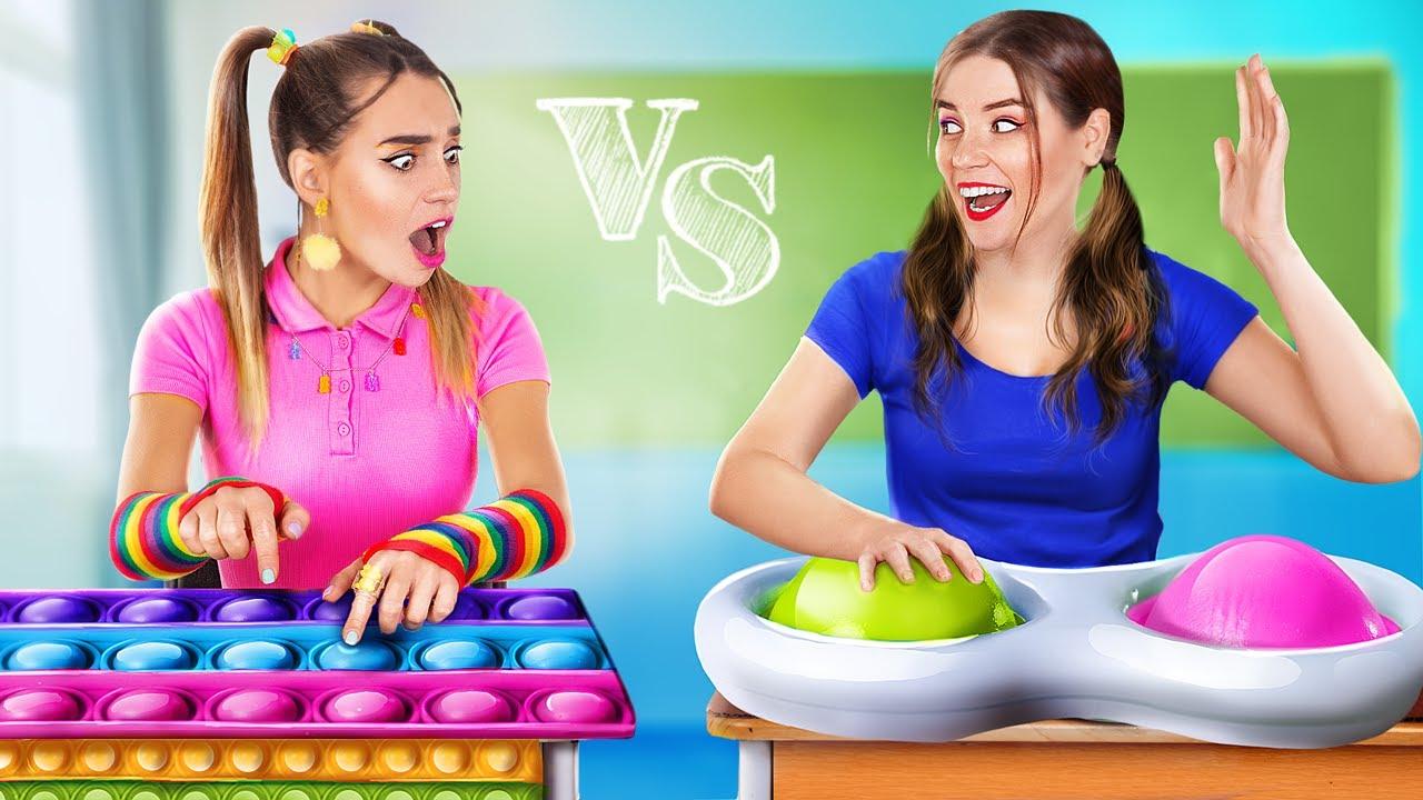Трум Трум — Simple Dimple vs Pop It в колледже! Что круче?